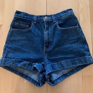 AMERICAN APPAREL high rise jean short